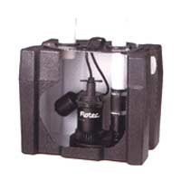 Flotec FP0S1800LTS Sink Pump System 1/4 HP, 28000 GPH, Thermoplastic, Direct Drain by Flotec