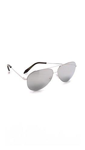 Victoria Beckham Women's Classic Victoria Sunglasses, Platinum, One - Sunglasses Victoria Aviator Beckham