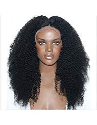 Wigsforyou Synthetic Lace Front Wig Afro Kinky Curly Wigs Heat Resistant Hair for Black Women