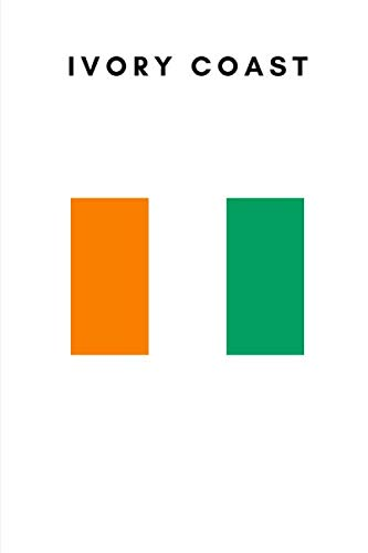Ivory Coast: Country Flag A5 Notebook to write in with 120 pages