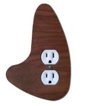 Modern Outlet Cover (Modern Outlet Cover Left | Mid Century Outlet Cover Left)