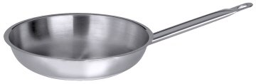 1x 28cm frying pan stainless steel frying pan, grill pan CONTACTO