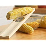 Lee's 101P Original 17'' Wood Base Cream Style Corn Cutter Tool