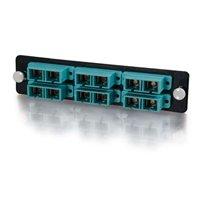 Q-Seriesandtrade; 12-Strand, SC Duplex, PB Insert, MM, Aqua SC Adapter Panel Duplex Pb Insert