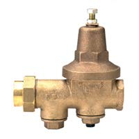 Zurn Wilkins Model 112-600XLHLRG 1-1/2'' Pressure Reducing Valve, Lead-Free, FNPT Union x FNPT, Hi-Lo Pressure 10-125 PSI, Set 50 PSI, Tapped and Plugged with Gauge