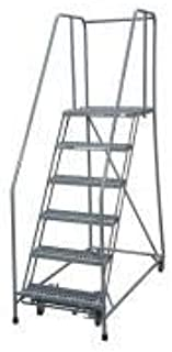 product image for Cotterman 1506R1824A3E20B4W4C1P6 - Rolling Ladder Steel 90In. H. Gray