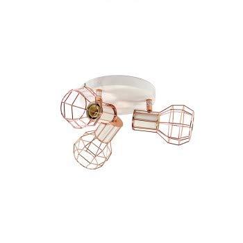 BarcelonaLED Lámpara de techo orientable jaula para bombillas de ...