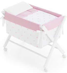 Bimbi Romantic–Baby, 68x 90x 71cm, Farbe Weiß und Rosa