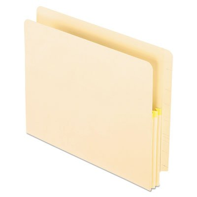 Convertible File, Straight Cut, 1 3/4 Inch Expansion, Letter, Manila, 25/Box