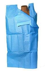 McKesson Exam Gown Tidi Nonwoven Synthetic Blue Adult by Tidi (Image #1)