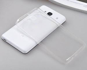 online retailer 4a449 7afc2 Dashmesh Shopping Transparent Clear Silicone jelly gel case Back cover for  XIAOMI REDMI 2