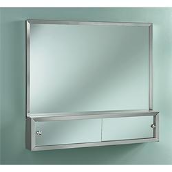 broannutone j1645p48ch commodore combination mirror medicine cabinet and cosmetic box