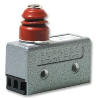 MICROSWITCH, PLUNGER, SPDT, 10A, 125VAC 4BR By BURGESS 4BR-BURGESS