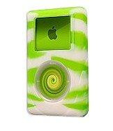 Silicone Iskin - reEVOlutions iSkin eVo2 Silicone Skin Case for 40 GB iPod classic 4G (Wild Side Green/White Swirl)