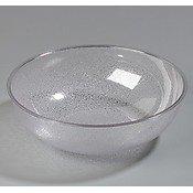 Carlisle 721507 Polycarbonate Round Pebbled Salad Bowl, 11 quart Capacity, 15.87