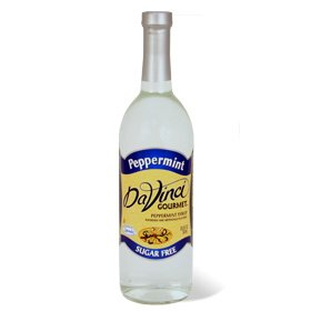 (DaVinci SUGAR FREE Peppermint Syrup w/ Splenda 750 mL)