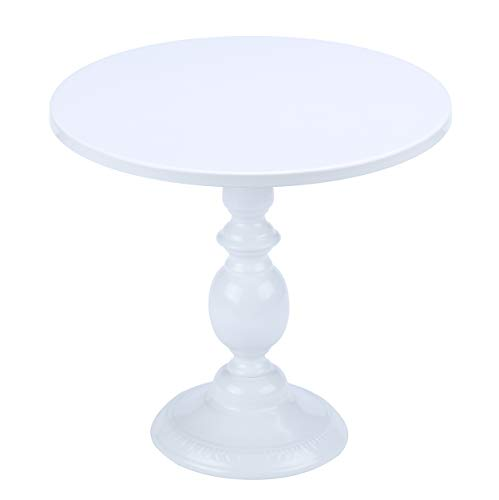 Hotity 12 Inch Cake Stand Round Cupcake Stands Metal Dessert Display Cake Stands, White