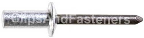 25 1/4 Closed End Rivets Aluminum Rivet, Steel - Steel Aluminum Rivets