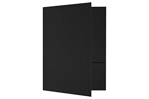 9 x 12 Presentation Folders - Black Linen (50 Qty) | Perfect for Tax Season, Brochures, Sales Materials and so Much More!| PF-BLI-50