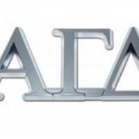 Elektroplate Alpha Gamma Delta Chrome Auto Emblem by Elektroplate