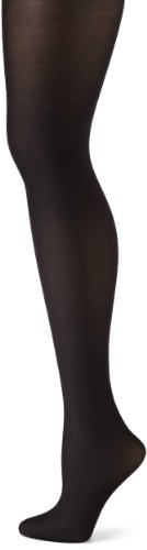 Black Shimmer Tights (Danskin Women's Shimmery Footed Tight - D - Black)