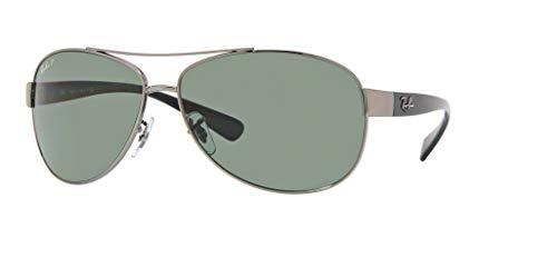 (Ray-Ban RB3386 004/9A 67M Gunmetal/Green Polarized Sunglasses For Men For Women)