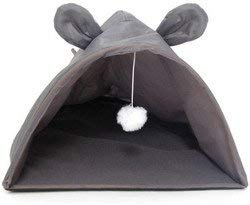 WMU Mouse Shape Cat House with Hanging Toy ()