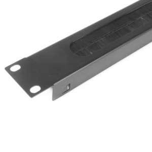 Penn Elcom R1268/1UK-PBS 1U Rack Panel with Brushed Opening for Cable by Penn Elcom