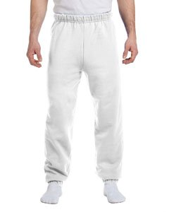 Jerzees 8 oz Sweatpant (973M) No Pockets Available in 10 Colors - White 973M M (White Hanes Sweatpants)
