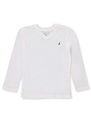Nautica Big Boys' L/S V-Neck T-Shirt - White, ()
