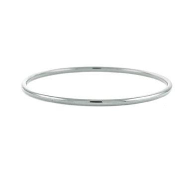 """Or blanc 18 carats - 7 mm-dérapant pour Bracelet 7 """"Motif JewelryWeb"""