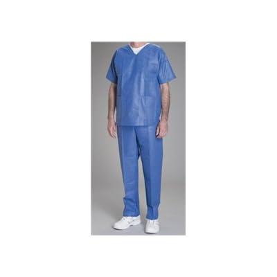 Alimed Disposable Scrubs, Blue Pant, Drawstring (Large)