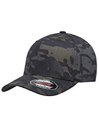 Flexfit Multicam Camo 6 Panel Baseball Cap Officially Licensed Multi-Cam 2 Patterns Black Camo Or Green Camo (Large/X-Large, Black Multicam)