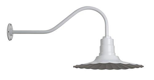 Highland Park Outdoor Light - Vintage Steel Gooseneck Light | The Highland Park RLM Radial Wave Lighting Fixture | Made in America | Barn Lighting (23