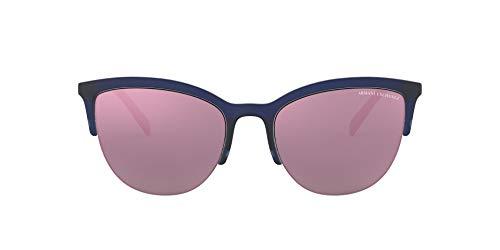 Armani Exchange Women's 0ax4083s Round Sunglasses matte blue milky 54.0 ()