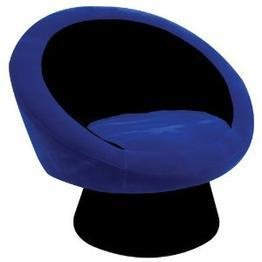 Saucer Chair in Deep Blue by LumiSource