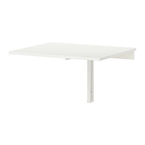 Ikea Wall-mounted drop-leaf table, white 824.26217.218 by IKEA