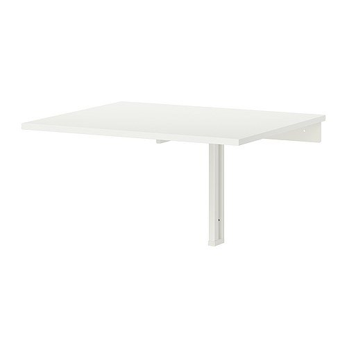 - Ikea Wall-mounted drop-leaf table, white 824.26217.218