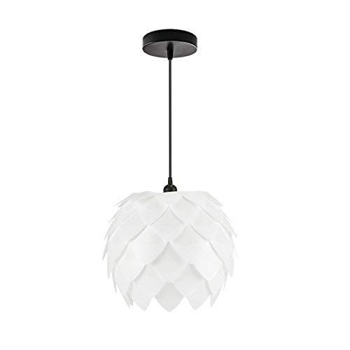 - Modern Chandeliers Ceiling Lights Pendant E27 Concise Style Artichoke Shaped pp DIY Lamp Shade with Cable and Lamp Base Not Included Light Bulb Dc 220-224V 3C ce Fcc Rohs for Living Room Bedroom, DE