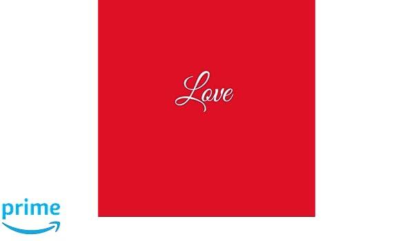 Libro De Visitas Love para bodas decoracion accesorios ideas regalos matrimonio eventos firmas fiesta hogar invitados boda 21 x 21 cm Cubierta Rojo (Spanish ...
