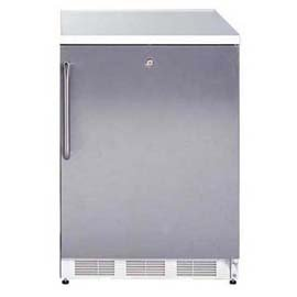 """AccuCold CT66J 24"""" 5.1 Cu. Ft. Capacity Compact Refrigerator with Zero Degree Freezer Dual Evaporator Adjustable Shelves Door Storage Cycle Defrost Crisper and Interior Light in"""