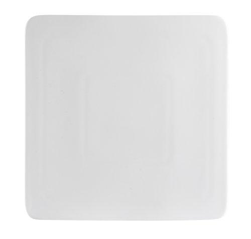 - CAC China SF-SQ10 Sunrise Square 10-Inch New Bone White Porcelain Flat Square Plate, Box of 12