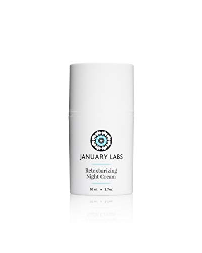 January Labs Skin Essentials Retexturizing Night Cream, Anti-Wrinkle Moisturizer, 1.7 oz. bottle