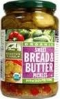 Woodstock Pickles Organic Bread And Butter Sweet, 24 Ounce