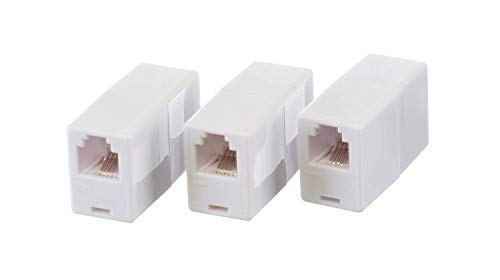 (THE CIMPLE CO - Telephone Cord Coupler Phone in Line Coupler | 4 Conductor (2) Telephone Lines – 3 Pack)
