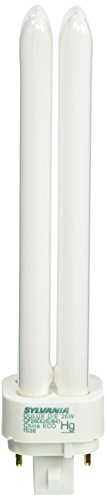 Sylvania 20669 Compact Fluorescent 4 Pin Double Tube 4100K, 26-watt (Tube Double 26w)