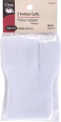 Dritz Bulk Buy Adult Knitted Cuffs 2 Pack White 55415-9 (3-Pack) by Dritz