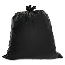 Heavy-Duty Trash Bags, 1.5 Mil, 55-60 Gallon, 50/BX, Black, Sold as 2 Box, 50 Each per Box by Genuine Joe