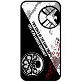 FEEL.Q- Personalized Protective Black TPU Rubber Cell Phone Case Cover for iPhone 4 & iPhone 4S -Marvels Agents of S.H.I.E.L.D. SHIELD