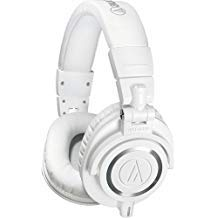- Audio-Technica ATH-M50x Professional Studio Monitor Headphones, White (Renewed)